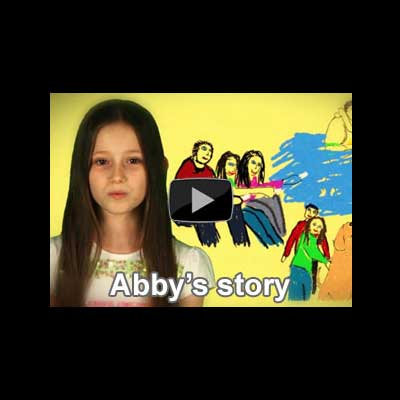 Screen shot of Abby's video