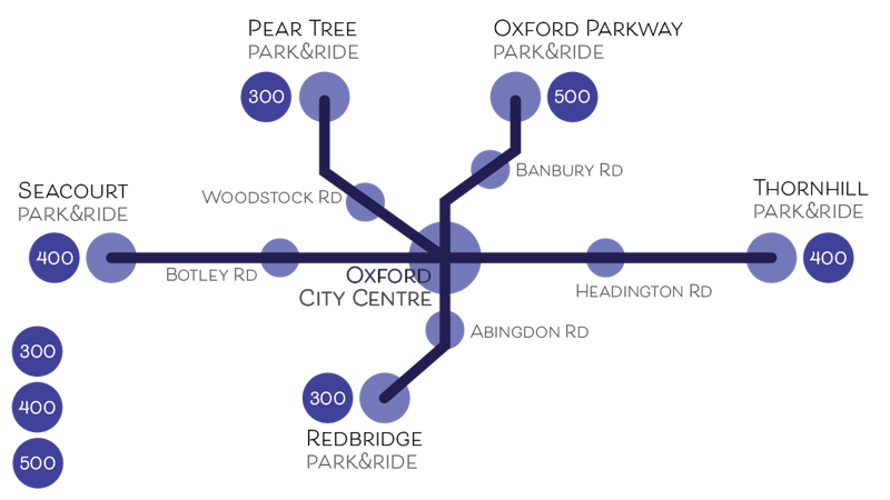 park and ride map