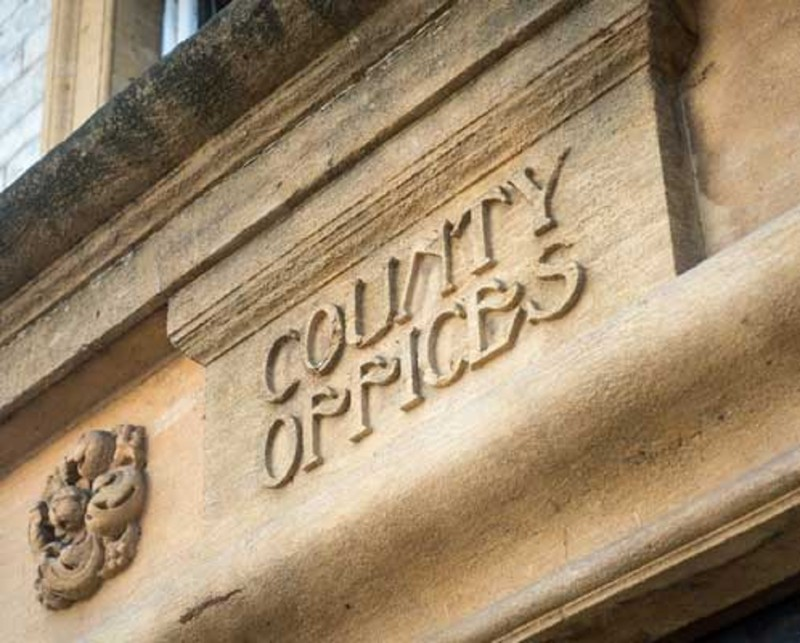 County offices sign